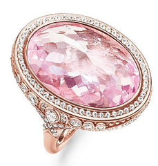 Thomas Sabo Glam And Soul Rose Gold Pink Corundum Ring D