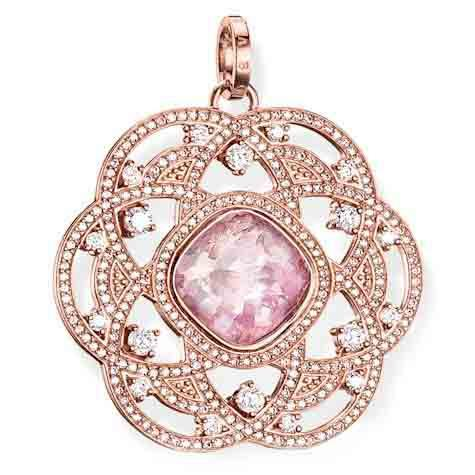 Thomas Sabo Glam And Soul Rose Gold Pink Quartz Eternity Of Love Pendant D