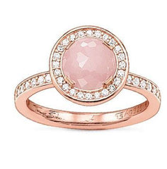 Thomas Sabo Glam And Soul Rose Gold Rose Quartz Light Of Luna Ring D