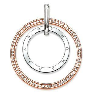 Thomas Sabo Glam And Soul Rose Gold White Zirconia Circles Pendant