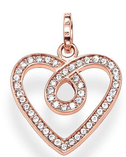 Thomas Sabo Glam And Soul Rose Gold White Zirconia Infinity Heart Pendant