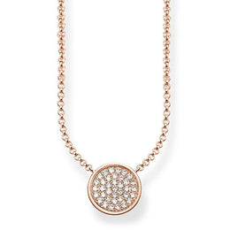 Thomas Sabo Glam And Soul Sterling Silver Rose Gold Zirconia Necklace KE1491-416-14-L45V