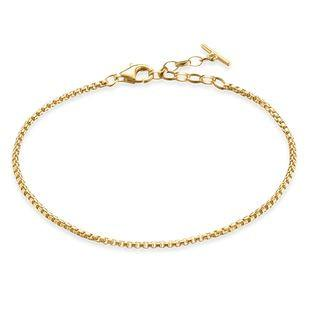 Thomas Sabo Glam And Soul Sterling Silver Yellow Gold Classic Bracelet