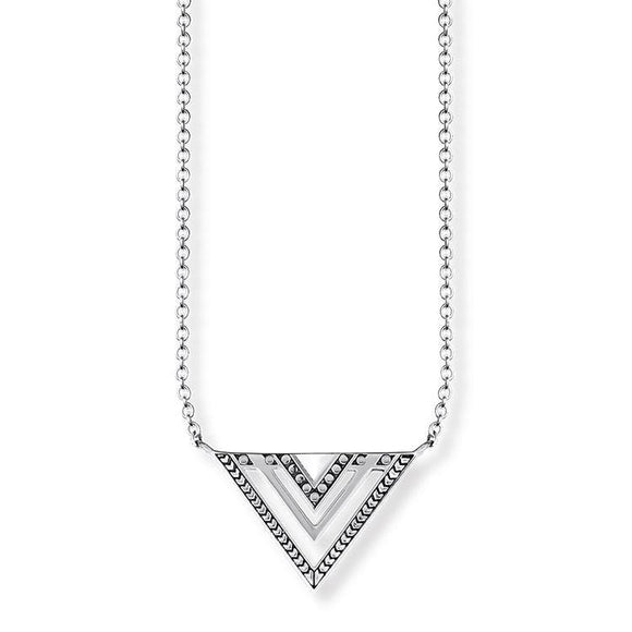 Thomas Sabo Glam And Soul Sterling Silver Africa Triangle Necklace KE1568-637-21-L45V