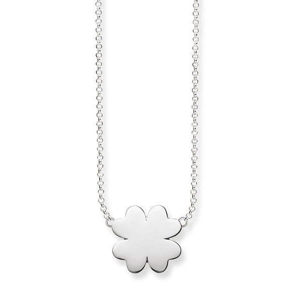 Thomas Sabo Glam And Soul Sterling Silver Cloverleaf Necklace D KE1482-001-12-L42V