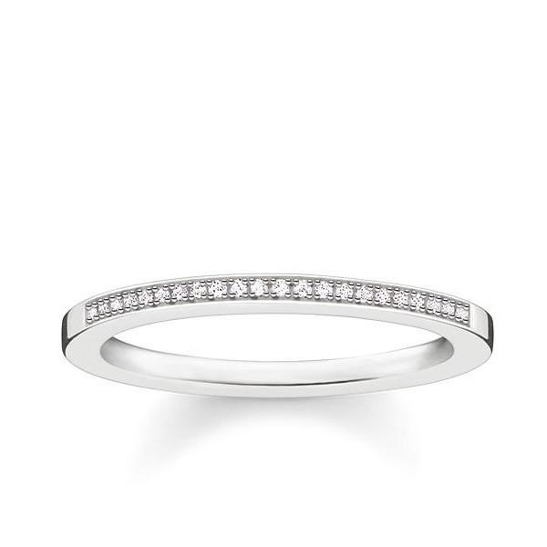 Thomas Sabo Glam And Soul Sterling Silver Diamond Ring D