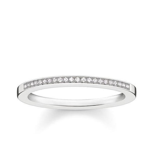 Thomas Sabo Glam And Soul Sterling Silver Diamond Ring D_TR0006-725-14