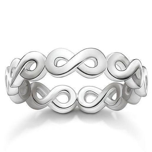 Thomas Sabo Glam And Soul Sterling Silver Infinity Ring TR2124-001-12