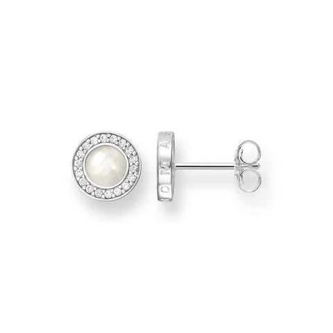 2f1b4b0c1 Thomas Sabo Glam And Soul Sterling Silver Mother of Pearl Zirconia Stud  Earrings ...
