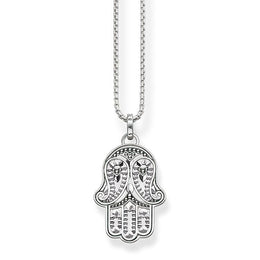 Thomas Sabo Glam And Soul Sterling Silver Paisley Design Hand Of Fatima Pendant D KE1544-001-12-L45V