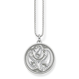 Thomas Sabo Glam And Soul Sterling Silver Paisley Design Necklace KE1543-001-12-L45V