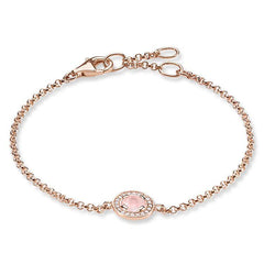 Thomas Sabo Glam And Soul Rose Gold Rose Quartz Light Of Luna Bracelet