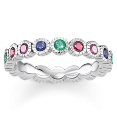 Thomas Sabo Glam And Soul Sterling Silver Royalty Colourful Stones Ring