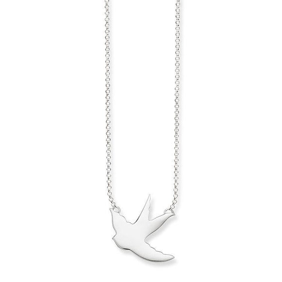 Thomas Sabo Glam And Soul Sterling Silver Swallow Necklace D KE1483-001-12-L42V