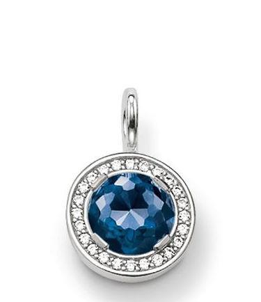 Thomas Sabo Glam And Soul Sterling Silver White Zirconia Blue Corundum Pendant D