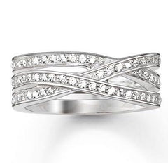 Thomas Sabo Glam And Soul Sterling Silver White Zirconia Eternity Ring D