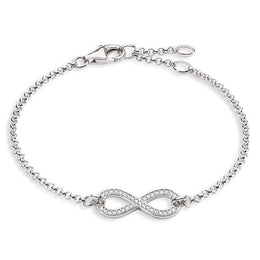 Thomas Sabo Glam And Soul Sterling Silver White Zirconia Infinity Bracelet A1310-051-14