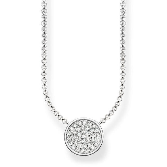 Thomas Sabo Glam And Soul Sterling Silver White Zirconia Sparkling Circles Necklace KE1491-051-14-L45V