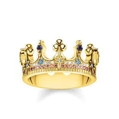 Thomas Sabo Glam And Soul Yellow Gold Crown Ring