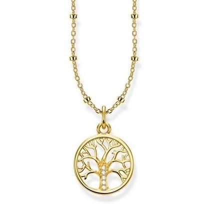 Thomas Sabo Glam And Soul Yellow Gold Tree of Love Necklace