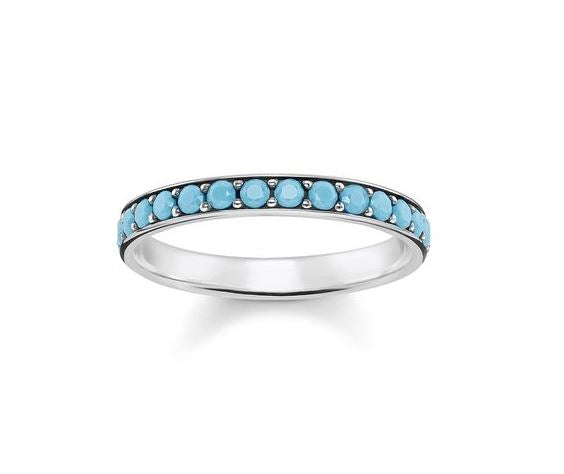 Thomas Sabo Glam and Soul Sterling Silver Turquoise Stones Ring