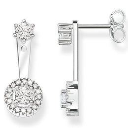 Thomas Sabo Glam and Soul Sterling Silver White Zirconia Light Of Luna Stud Earrings H1927-051-14