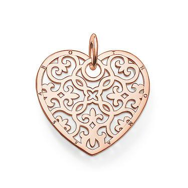 Thomas Sabo Karma Bead Rose Gold Heart Pendant D