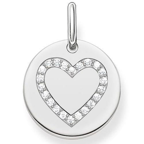 Thomas Sabo Love Bridge Cubic Zirconia Heart Love Coin, LBPE0005-051-14.