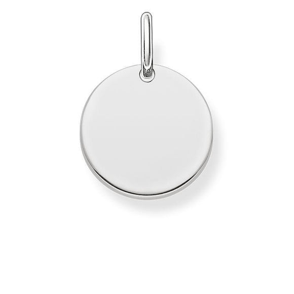 Thomas Sabo Love Bridge Sterling Silver Disc Pendant LBPE0001-001-12