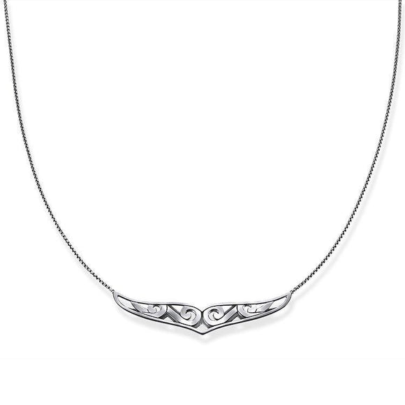Thomas Sabo Rebel At Heart Sterling Silver Maori Ornamentation Necklace KE1569-637-21-L50V
