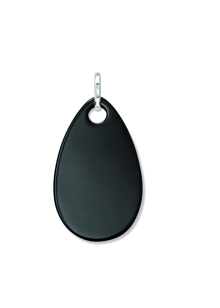 Thomas Sabo Sterling Silver Black Onyx Tear Drop Pendant D