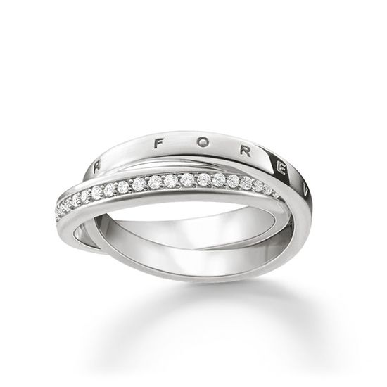 Thomas Sabo Sterling Silver Glam and Soul Together Forever Ring