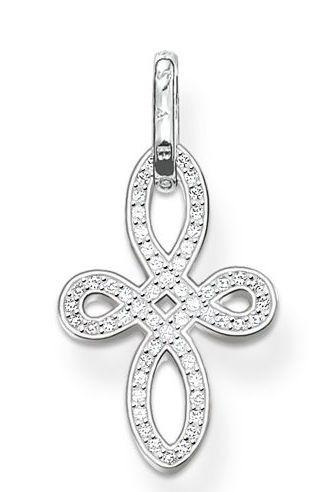 Thomas Sabo Sterling Silver White Zirconia Knot Cross Pendant D
