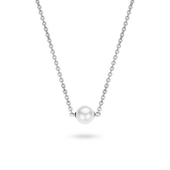 Ti Sento Sterling Silver Centre Pearl Necklace 3760PW42