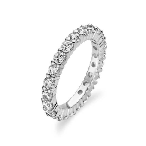Ti Sento Sterling Silver Cubic Zirconia Ring Size 50 D