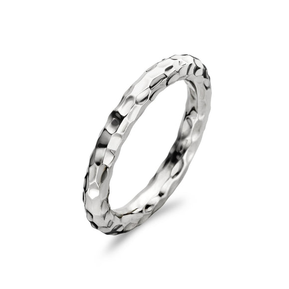 Ti Sento Sterling Silver Hammered Effect Ring 1848SH