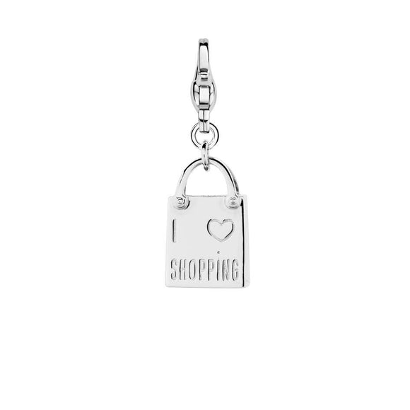 Ti Sento Sterling Silver Shop Till You Drop Charm 8169SI