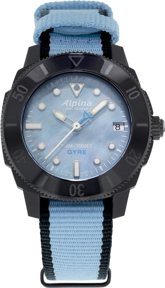 Alpina Watch Seastrong Dive Gyre Light Blue Ladies AL-525LMPLNB3VG6