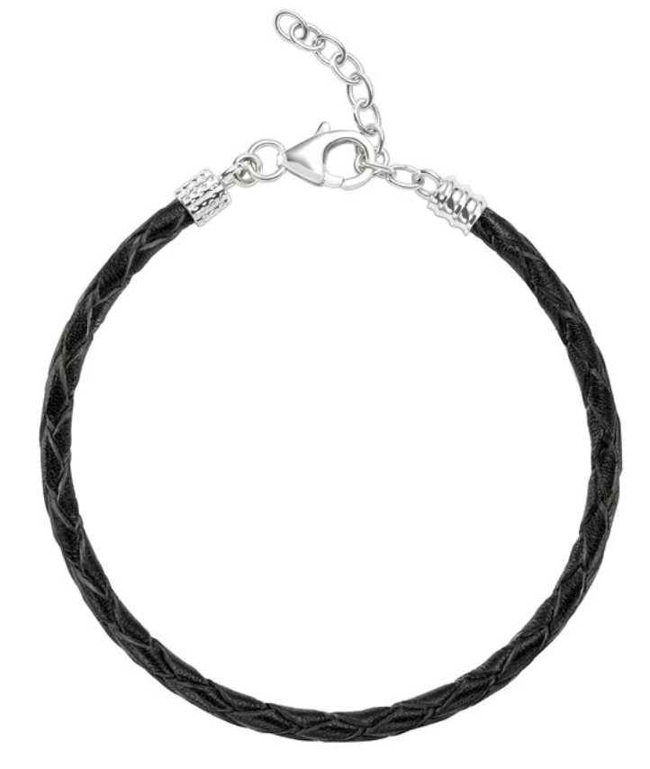 Chamilia Bracelet Leather Ebony Braided