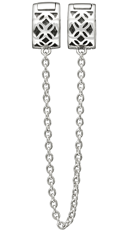 Chamilia Charm Royale Lock with Safety Chain Silver