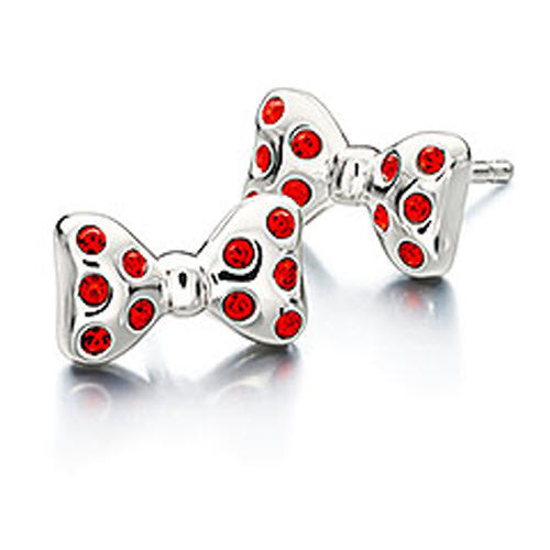Chamilia Earrings Disney Minnie Mouse Bowtique Silver