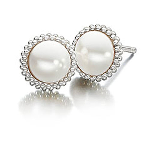 Chamilia Earrings Pearl Silver