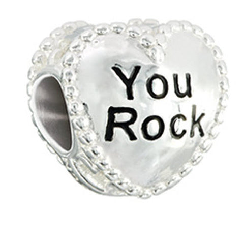 Chamilia Charm Candy Hearts You Rock Silver
