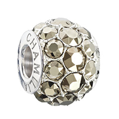 Chamilia Charm Splendor Metallic Light Gold Swarovski Silver