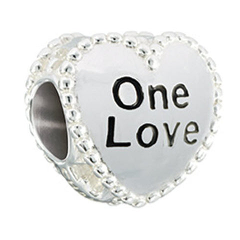 Chamilia Charm Candy Hearts One Love Silver