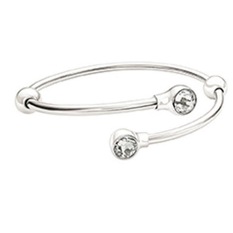 Chamilia Bangle Flex Swarovski Crystal Silver