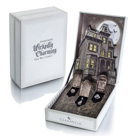 Chamilia Charm Wickedly Halloween Gift Set 2015 Silver