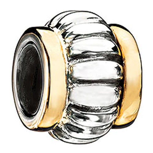 Chamilia Bead Gold Edges Silver