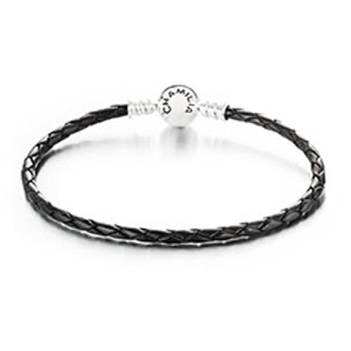 Chamilia Bracelets Leather Braided Black