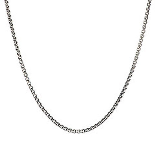 Chamilia Chains Box Chain Snap Necklace Oxidized Silver